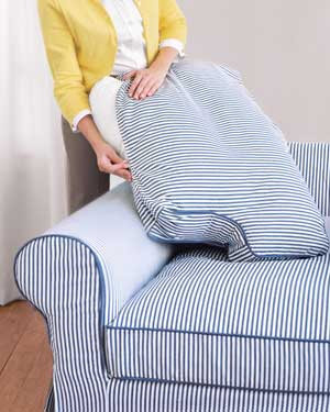 Slipcover striped