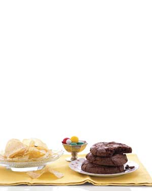 Potato chips and cookies