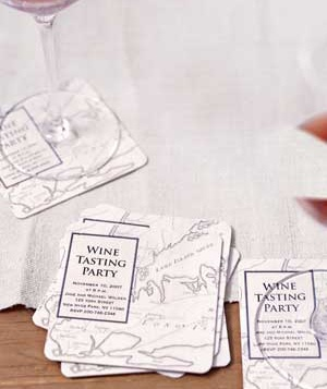 Host a wine tasting party real simple coasters made from maps stopboris Image collections