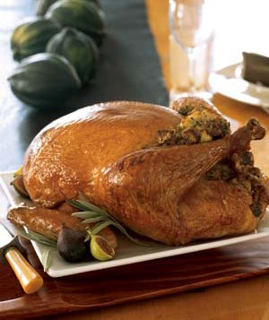 Roast Turkey With Sage Stuffing and Gravy