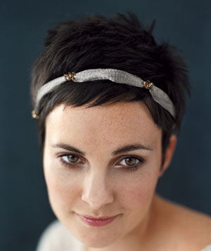 Woman wearing a headband