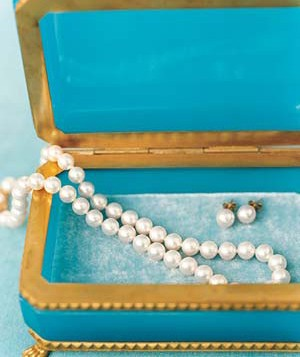 Pearls in a jewelry box