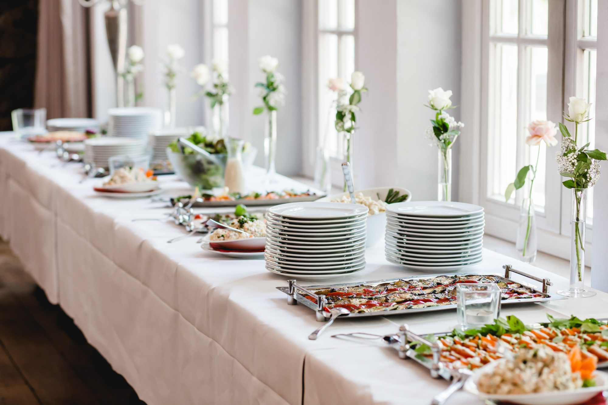 Wedding Menu Ideas: Buffet setup