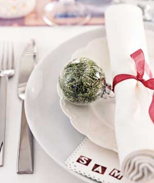 Ornament as napkin ring