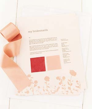 Wedding color swatches
