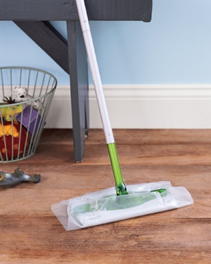 Wax paper on a sweeper