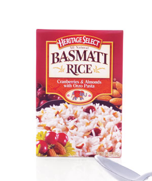 Heritage Select All Natural Basmati Rice Cranberries and Almonds with Orzo Pasta
