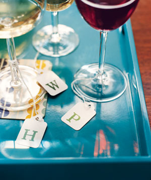 Hangtags as wine charms