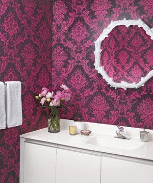 Antoinette Damask wallpaper by Blue Mountain Wallcoverings