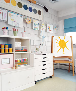 An organized playroom