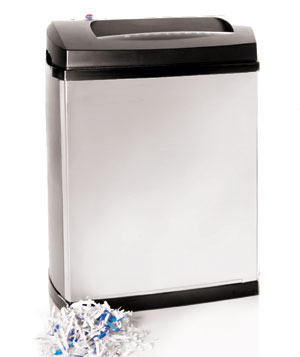 Black & white paper shredder