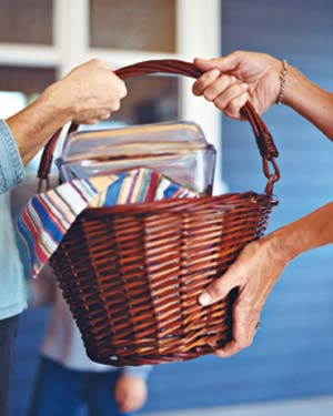 Easter Baskets as Gadget Storage