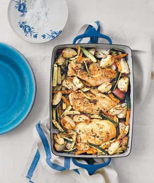 Rosemary Chicken With Zucchini