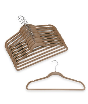 Ultra Slim Camel Flocked Hangers