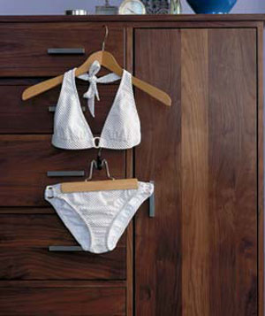 White bikini on a hanger