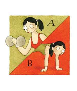 Illustration of a woman exercising