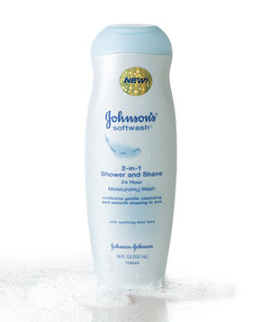 Johnson's 2-in-1 Shower and Shave 24 Hour Moisturizing Wash