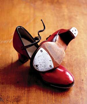 Red tap dance shoes