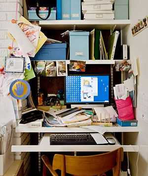 Clutter in Emily Mencken's office