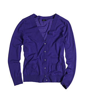 J. Crew Featherweight Merino Wool Glass-Button Cardigan