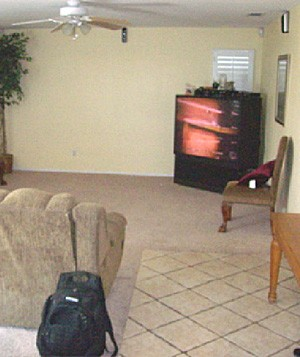 Tracey Waters' family room