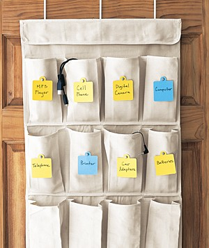 Shoe organizer with Post-It notes