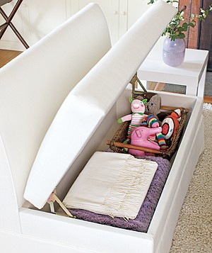 Living Room Storage Idea #2: Lots of Space Under the Seat