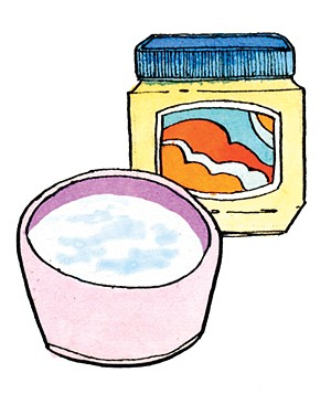 Illustration of a pot of petroleum jelly and water