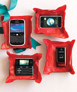 Cell phones in gift boxes