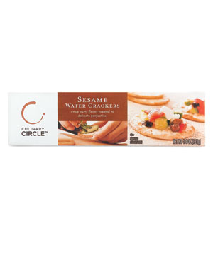 Culinary Circle Sesame Water Crackers