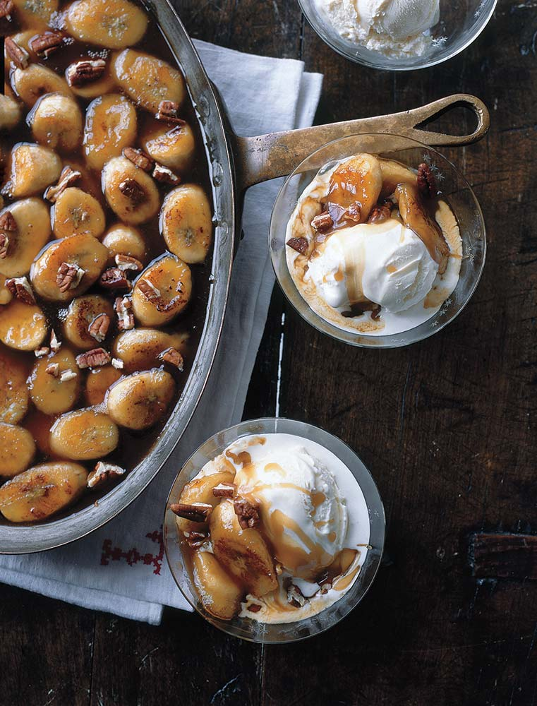 Butterscotch Bananas With Vanilla Ice Cream