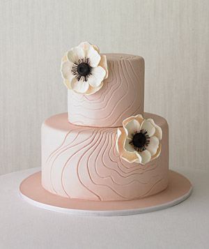 Tiered cake decorated with flowers