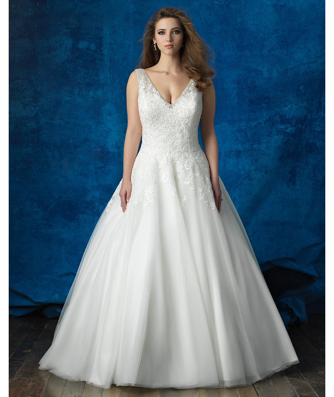 5 gorgeous full figured wedding gowns allure bridals lace and tulle ballgown