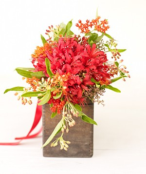 Bouquet of orange nerines