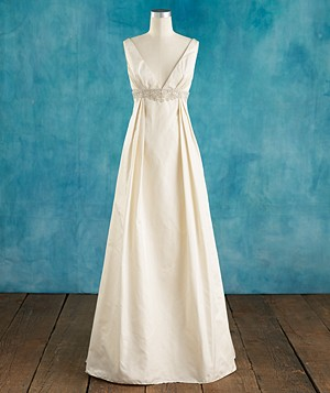 Wedding dresses if you re pear shaped real simple for Real simple wedding dresses