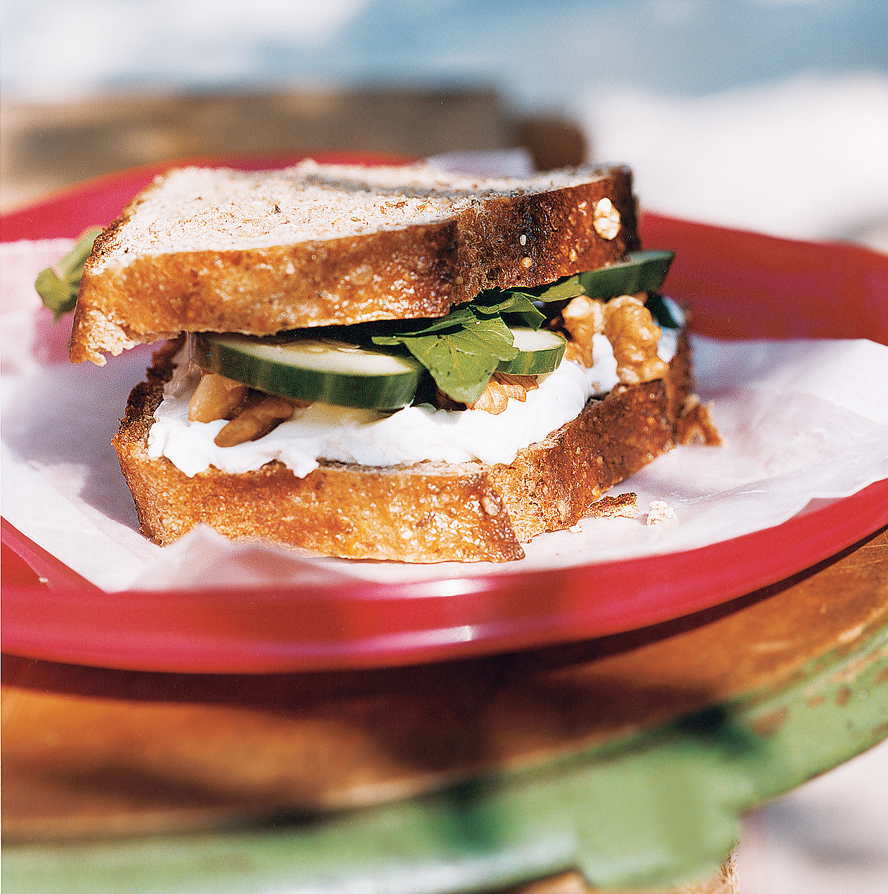 Cucmber and Goat Cheese Sandwiches