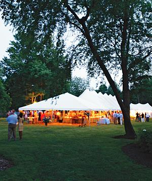 Tent for a wedding reception