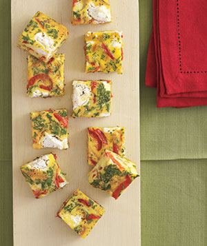 Red Pepper Frittata Squares