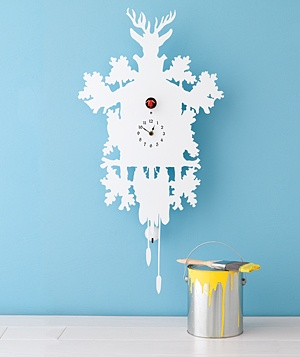 Clock and paint can