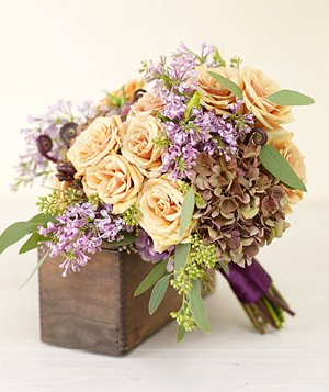 Bouquet of purple hydrangea