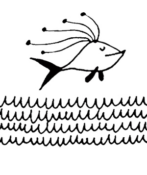 Illustration of a fish in the ocean