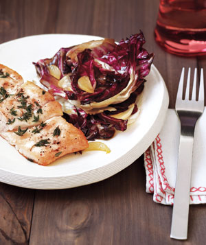 Halibut with Sauteed Radicchio