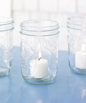 Mason jar with candles
