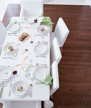 Table set for a dinner party