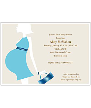 Love Shows Blue baby shower invitation