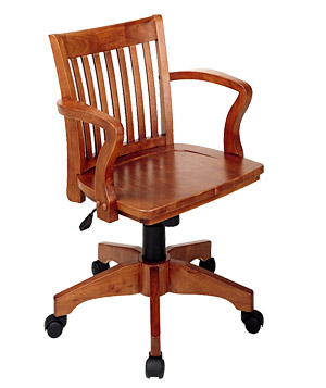 Office Star Deluxe Wood Banker's chair