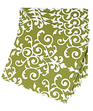 Paper Source Moss Flourish cocktail napkins