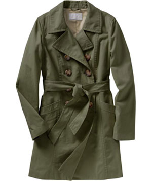 Twill Button-Front Trench Coat by Old Navy