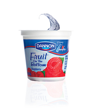 Dannon Fruit on the Bottom Raspberry Yogurt