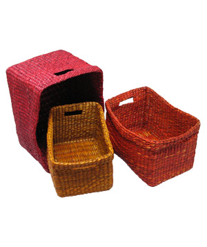 Ten Thousand Villages Seagrass nesting baskets